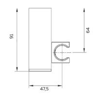 Настенный держатель для ручного душа AltroBagno SHK 070502 Cr Хром