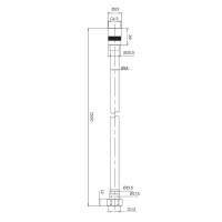 Душевой шланг Altrobagno SH 071102 Cr Хром