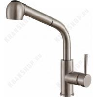 Смеситель с выдвижным изливом Zorg Inox Hammer SH 6006 Steel