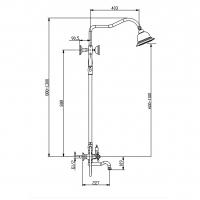 Душевая система TIMO Nelson SX-1291/02 Антик