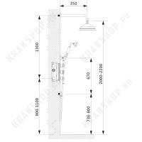 Душевая система скрытого монтажа с термостатом Nelson SX-1391/02SM Антик