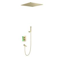Душевая система TIMO с термостатом Petruma SX-5019/17SM Золото матовое