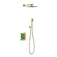 Душевая система TIMO с термостатом Petruma SX-5059/17SM Золото матовое
