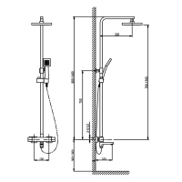 Душевая система TIMO с термостатом Tetra-Thermo SX-0169/00 Хром