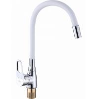 Смеситель для кухни с гибким изливом ViEiR V023521-F Хром/Белый
