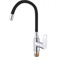 Смеситель для кухни с гибким изливом ViEiR V043521-C Хром/Черный