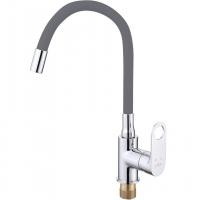 Смеситель для кухни с гибким изливом ViEiR V043521-H Хром/Серый