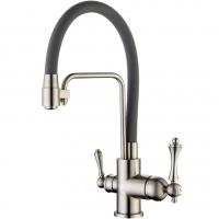 Cмеситель для кухни под фильтр ViEiR V15006-G Сатин/Серый