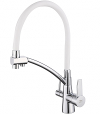 Cмеситель для кухни под фильтр ViEiR V15007-F Хром/Белый