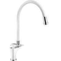 Смеситель для кухни с гибким изливом ViEiR V332521-F Белый
