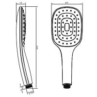 Душевая лейка ViEiR VR1002 Хром