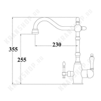 Смеситель для кухни под фильтр Zorg Sanitary ZR 312 YF-33-Satin