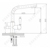 Однорычажный смеситель для кухни ZorG ZR 313YF-33 Chrome