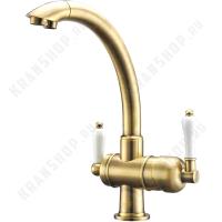 Смеситель для кухни под фильтр ZorG Sanitary ZR 327 YF Bronze Light