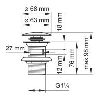 Донный клапан для раковины GANZER F-2F белый