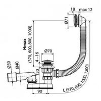 Обвязка для ванны AlcaPlast А504CКM Хром
