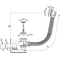 Обвязка для ванны AlcaPlast А55К d80 Хром