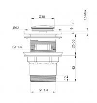 Донный клапан для раковины Elghansa Waste Systems WBT-221 Chrome