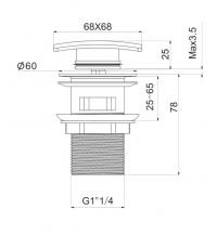 Донный клапан для раковины Elghansa Waste Systems WBT-125 Chrome