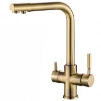 Смеситель для кухни под фильтр Zorg Hammer SH 552 Bronze