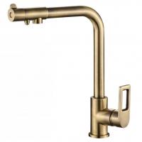 Смеситель для кухни под фильтр Zorg Hammer SH 572 Bronze
