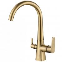 Смеситель для кухни под фильтр Zorg Hammer SH 819 Bronze