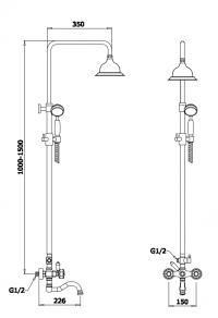 Душевая система GANZER GZ09062D Бронза