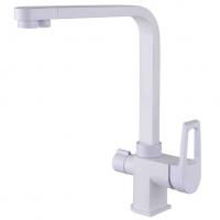 Смеситель для кухни под фильтр Zorg Sanitary ZR 334 YF-WHITE