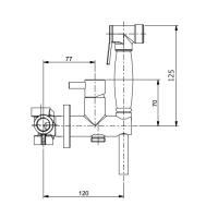 Гигиенический душ со смесителем Webert EL870303015PVC Хром