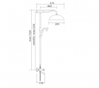 Душевая система Veragio AGATHA VR.AGA-9945.BR