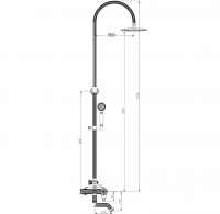 Душевая система ZorG Antic A 402DS-Silver