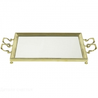 Поднос с зеркалом Stilars 02011 Gold