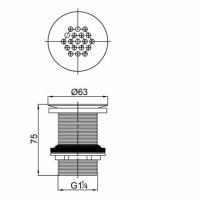Донный клапан для раковины Veragio SBORTIS VR.SBR-8001.CR