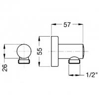Подключение для шланга Migliore Ricambi ML.RIC-30.206.CR