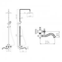 Душевая система ZorG Antic A 7002DS-Silver