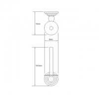 Бумагодержатель WasserKRAFT Ammer K-7097 CR