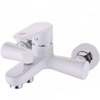 Однорычажный смеситель для ванны с душем KorDi KD 6604-D70 white