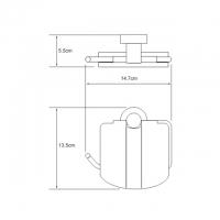Бумагодержатель WasserKRAFT Donau K-9425 CR