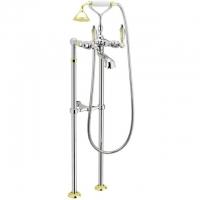 Cмеситель для ванны напольный Webert Alexandra AL720801 Chrome-Gold