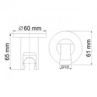 Подключение для шланга WasserKRAFT A022 CR