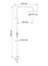 Душевая система WasserKRAFT A040 BR