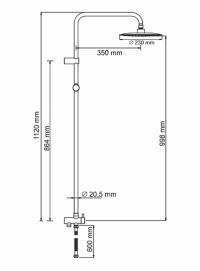Душевая система WasserKRAFT A041 BR