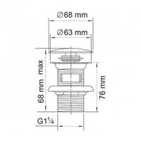 Донный клапан для раковины WasserKRAFT A047 BR