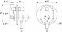 Смеситель для душа Migliore Oxford ML.OXF-6378.BI.BR