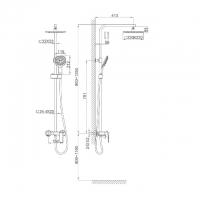 Душевая система D&K Berlin Freie DA1433701A01