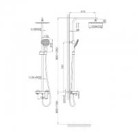 Душевая система D&K Berlin Touro DA1433703A01