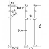 Колонна напольная Migliore Ricambi ML.RIC-20.100 CR