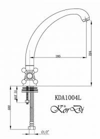 Смеситель для кухни KorDi KD1004L-F04