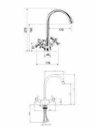 Смеситель для кухни KorDi KD 2505 - F04
