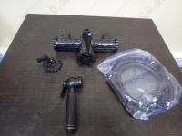 Cмеситель для душа с гигиенической лейкой Lemark Jasmine LM6618ORB Black Bronze